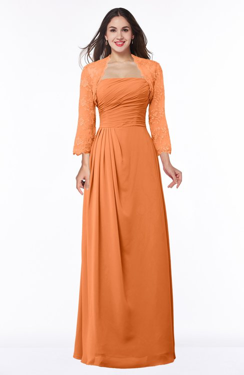 ColsBM Camila Mango Modest Strapless Zip up Floor Length Lace Mother of the Bride Dresses