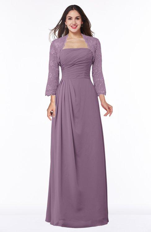 ColsBM Camila Mauve Modest Strapless Zip up Floor Length Lace Mother of the Bride Dresses
