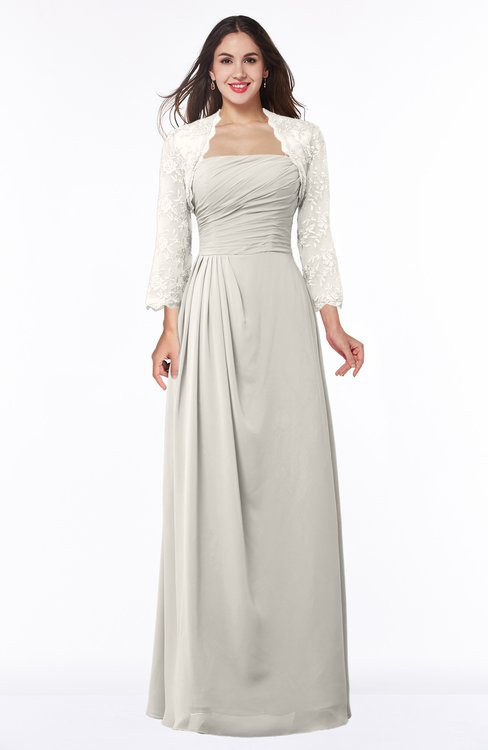 ColsBM Camila Off White Modest Strapless Zip up Floor Length Lace Mother of the Bride Dresses