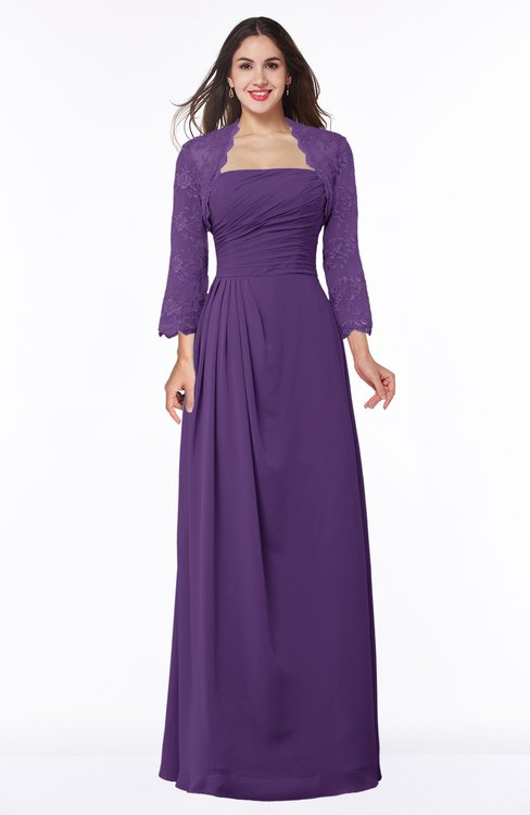 ColsBM Camila Pansy Modest Strapless Zip up Floor Length Lace Mother of the Bride Dresses