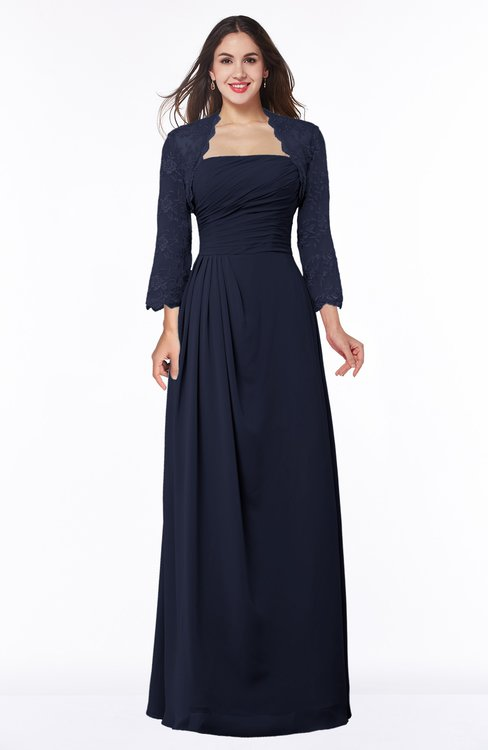 ColsBM Camila Peacoat Modest Strapless Zip up Floor Length Lace Mother of the Bride Dresses
