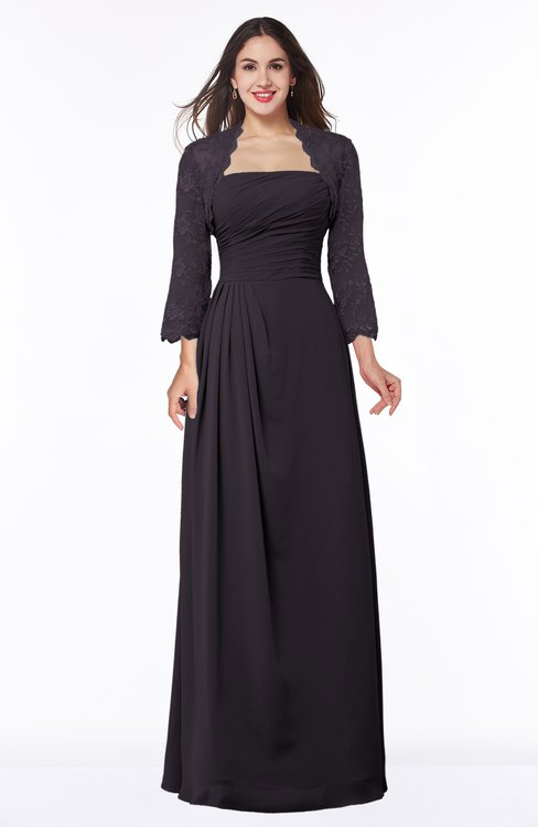 ColsBM Camila Perfect Plum Modest Strapless Zip up Floor Length Lace Mother of the Bride Dresses