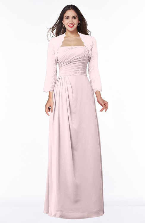 ColsBM Camila Petal Pink Modest Strapless Zip up Floor Length Lace Mother of the Bride Dresses
