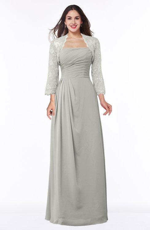 ColsBM Camila Platinum Modest Strapless Zip up Floor Length Lace Mother of the Bride Dresses