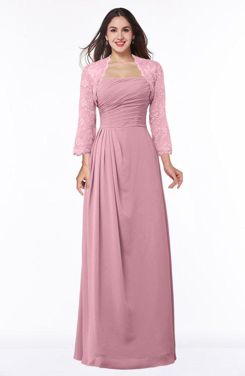 ColsBM Camila Rosebloom Modest Strapless Zip up Floor Length Lace Mother of the Bride Dresses