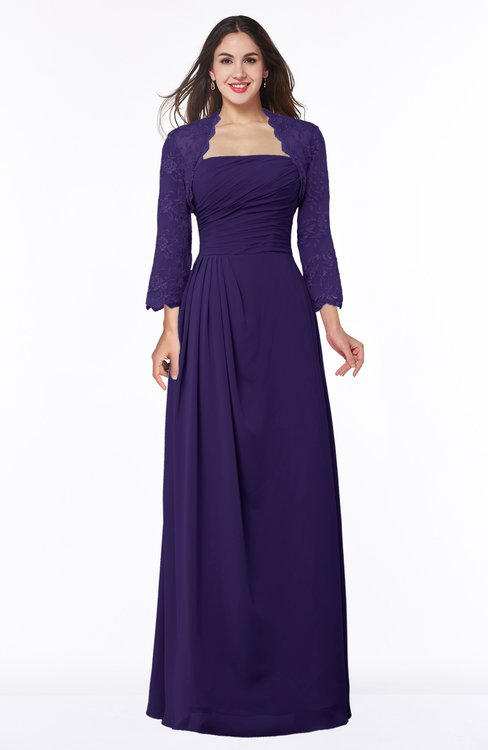 ColsBM Camila Royal Purple Modest Strapless Zip up Floor Length Lace Mother of the Bride Dresses