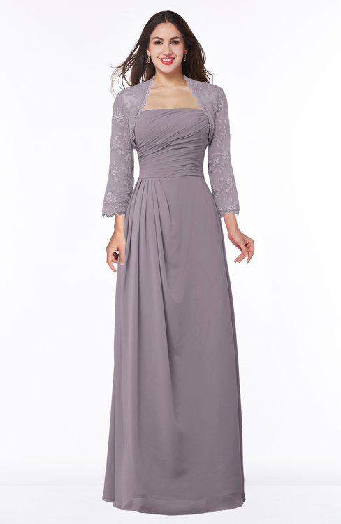 ColsBM Camila Sea Fog Modest Strapless Zip up Floor Length Lace Mother of the Bride Dresses