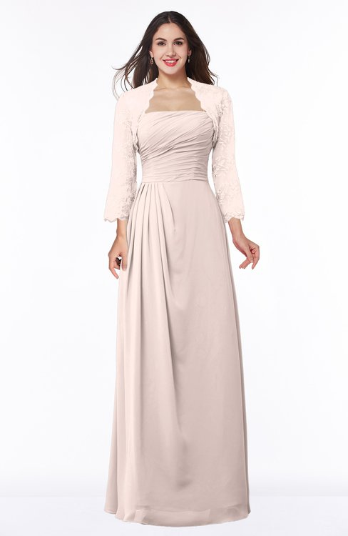 ColsBM Camila Silver Peony Modest Strapless Zip up Floor Length Lace Mother of the Bride Dresses