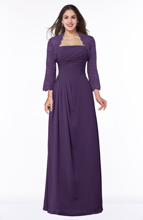 ColsBM Camila Violet Modest Strapless Zip up Floor Length Lace Mother of the Bride Dresses