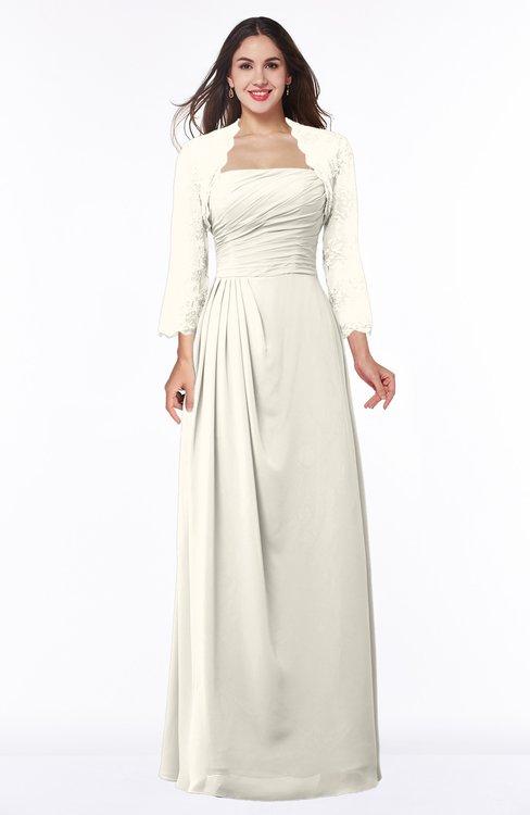 ColsBM Camila Whisper White Modest Strapless Zip up Floor Length Lace Mother of the Bride Dresses