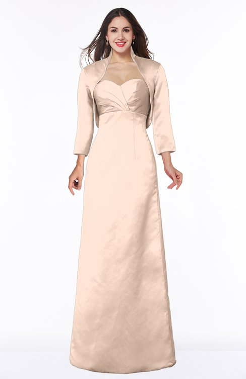 ColsBM Erica Almost Apricot Traditional Criss-cross Straps Satin Floor Length Pick up Mother of the Bride Dresses