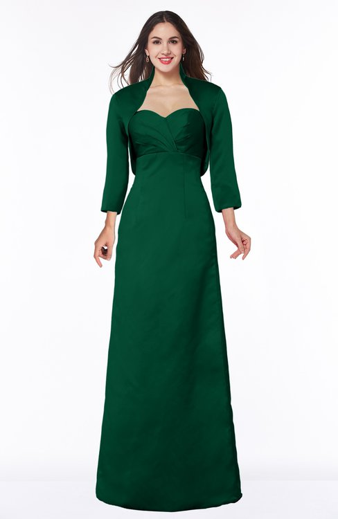 ColsBM Erica Alpine Green Traditional Criss-cross Straps Satin Floor Length Pick up Mother of the Bride Dresses