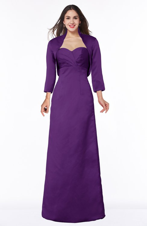 ColsBM Erica Amaranth Purple Traditional Criss-cross Straps Satin Floor Length Pick up Mother of the Bride Dresses