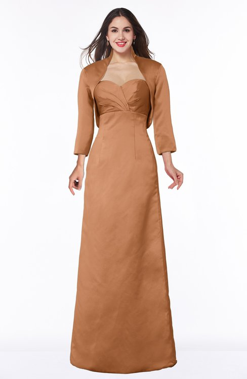 ColsBM Erica Amber Traditional Criss-cross Straps Satin Floor Length Pick up Mother of the Bride Dresses