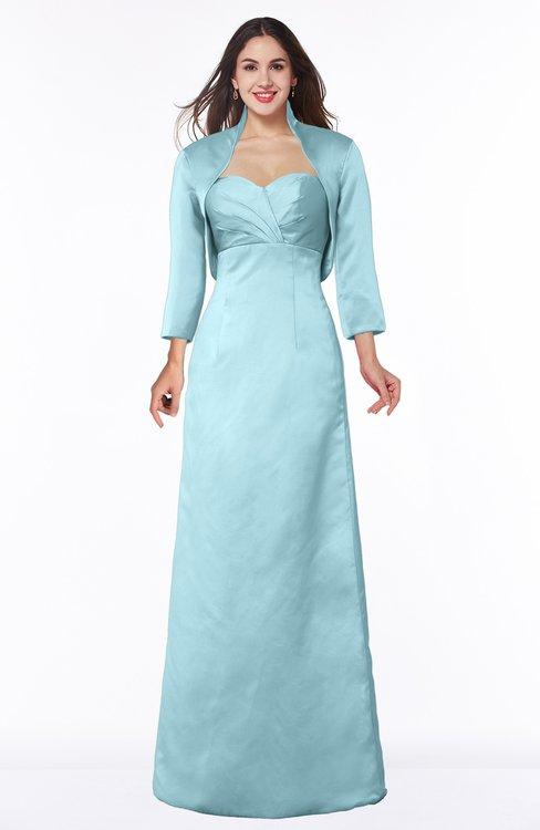 ColsBM Erica Aqua Traditional Criss-cross Straps Satin Floor Length Pick up Mother of the Bride Dresses