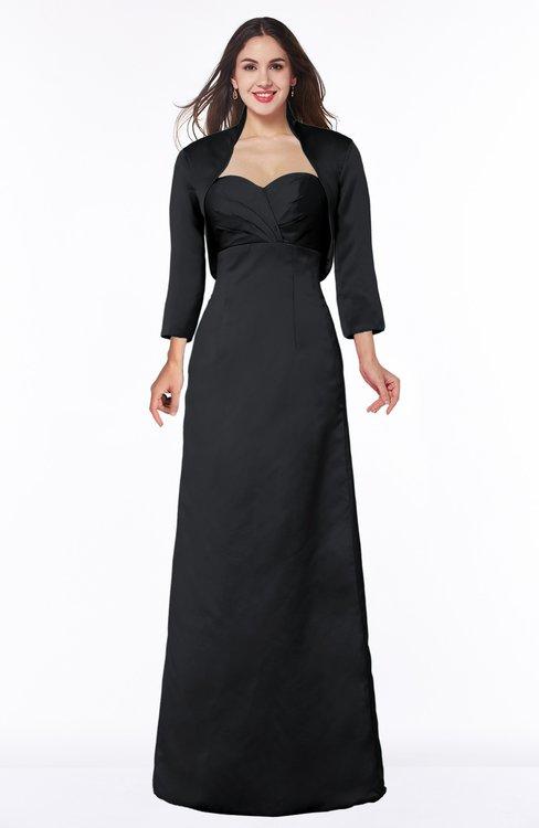 ColsBM Erica Black Traditional Criss-cross Straps Satin Floor Length Pick up Mother of the Bride Dresses