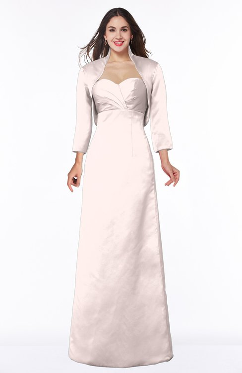 ColsBM Erica Blush Traditional Criss-cross Straps Satin Floor Length Pick up Mother of the Bride Dresses
