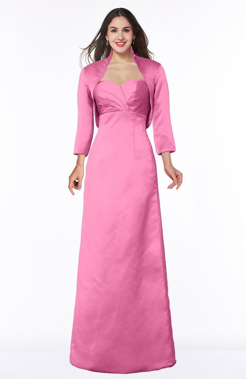 ColsBM Erica Carnation Pink Traditional Criss-cross Straps Satin Floor Length Pick up Mother of the Bride Dresses