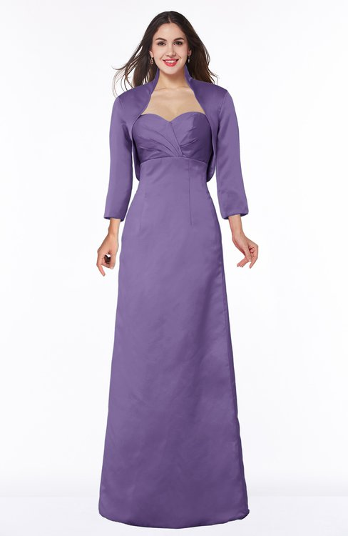 ColsBM Erica Chalk Violet Traditional Criss-cross Straps Satin Floor Length Pick up Mother of the Bride Dresses