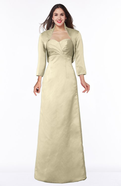 ColsBM Erica Champagne Traditional Criss-cross Straps Satin Floor Length Pick up Mother of the Bride Dresses