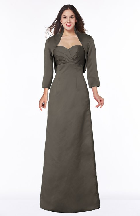 ColsBM Erica Chocolate Brown Traditional Criss-cross Straps Satin Floor Length Pick up Mother of the Bride Dresses