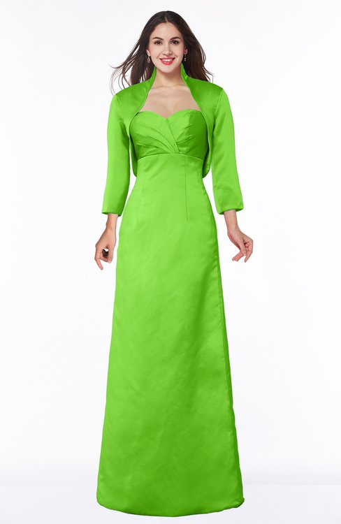 ColsBM Erica Classic Green Traditional Criss-cross Straps Satin Floor Length Pick up Mother of the Bride Dresses