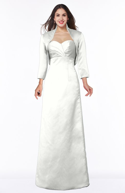 ColsBM Erica Cloud White Traditional Criss-cross Straps Satin Floor Length Pick up Mother of the Bride Dresses