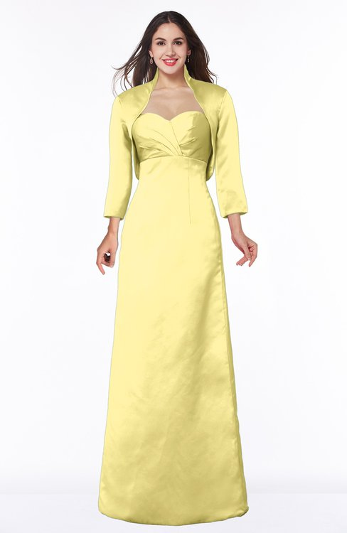 ColsBM Erica Daffodil Traditional Criss-cross Straps Satin Floor Length Pick up Mother of the Bride Dresses