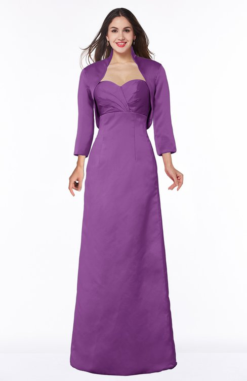 ColsBM Erica Dahlia Traditional Criss-cross Straps Satin Floor Length Pick up Mother of the Bride Dresses