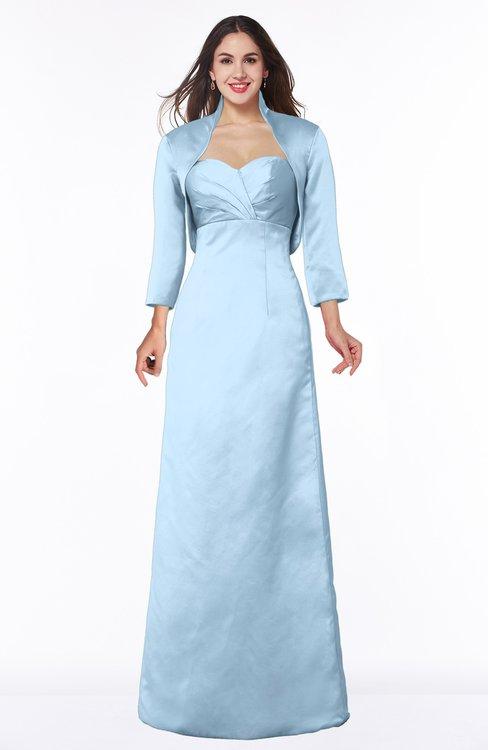 ColsBM Erica Dream Blue Traditional Criss-cross Straps Satin Floor Length Pick up Mother of the Bride Dresses