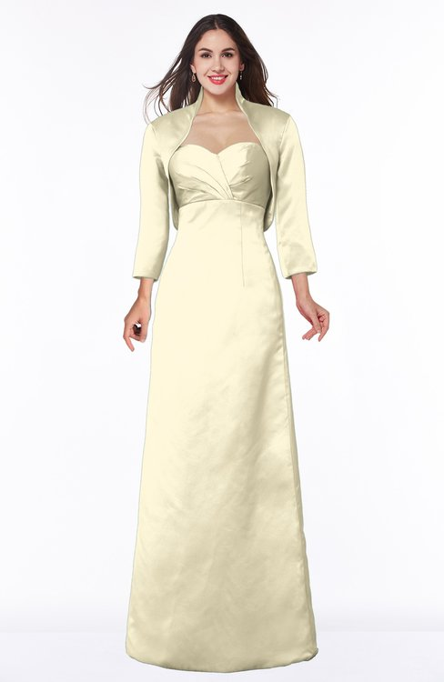 ColsBM Erica Egret Traditional Criss-cross Straps Satin Floor Length Pick up Mother of the Bride Dresses