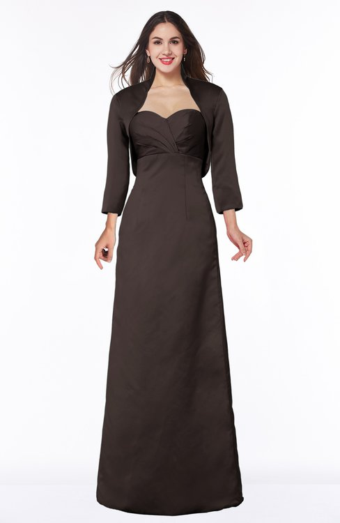 ColsBM Erica Espresso Traditional Criss-cross Straps Satin Floor Length Pick up Mother of the Bride Dresses