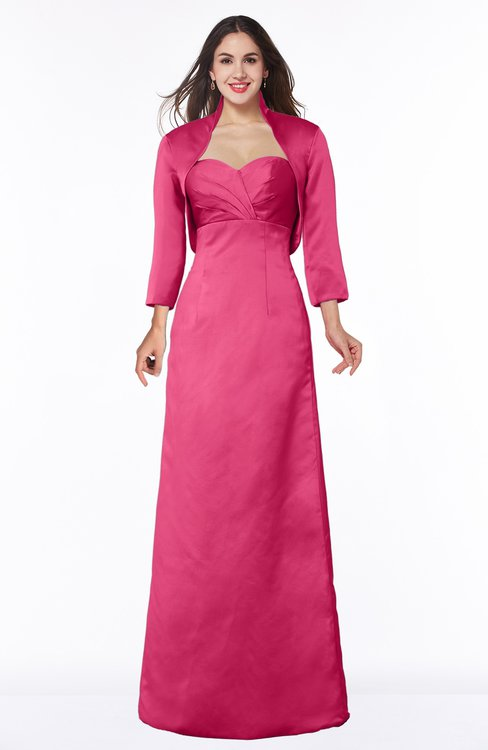ColsBM Erica Fuschia Traditional Criss-cross Straps Satin Floor Length Pick up Mother of the Bride Dresses