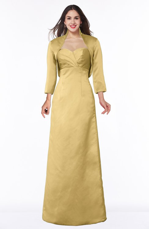 ColsBM Erica Gold Traditional Criss-cross Straps Satin Floor Length Pick up Mother of the Bride Dresses