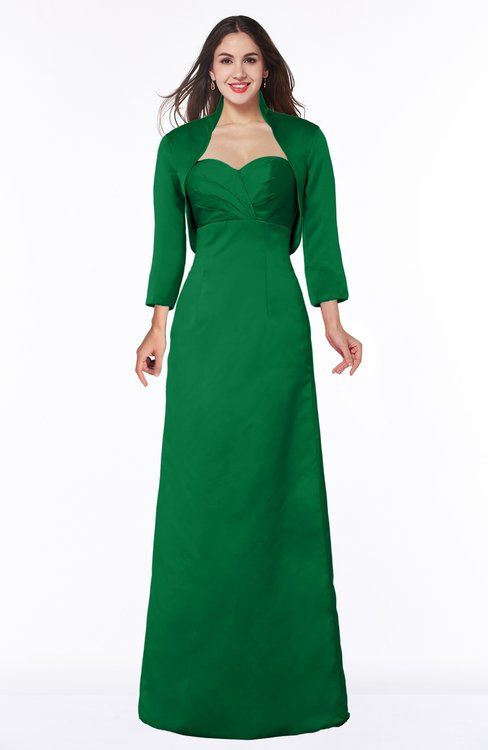 ColsBM Erica Green Traditional Criss-cross Straps Satin Floor Length Pick up Mother of the Bride Dresses