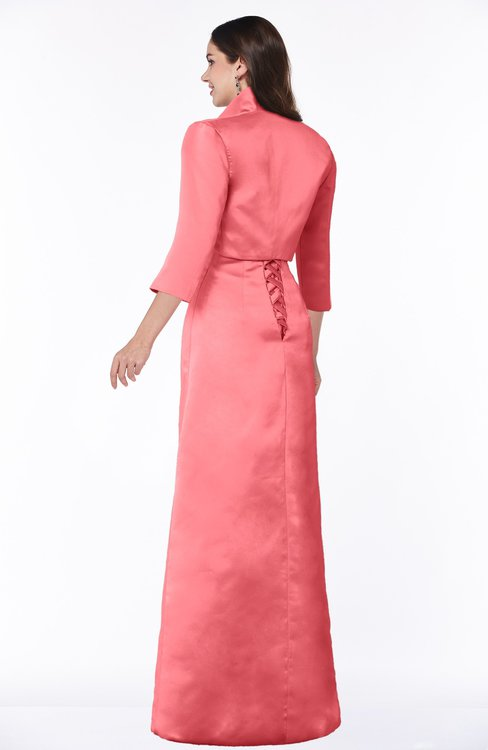 06e7dba81d ... ColsBM Erica Hot Coral Traditional Criss-cross Straps Satin Floor  Length Pick up Mother of