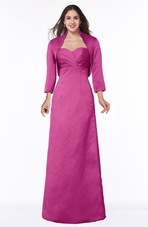 ColsBM Erica Hot Pink Traditional Criss-cross Straps Satin Floor Length Pick up Mother of the Bride Dresses