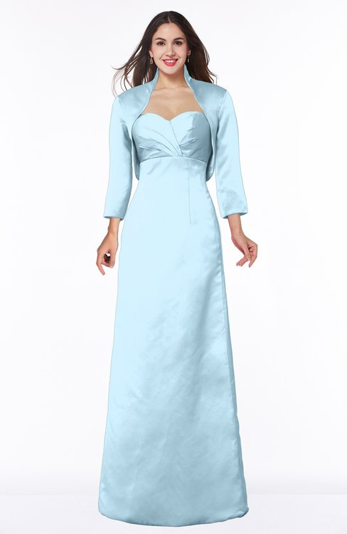 ColsBM Erica Ice Blue Traditional Criss-cross Straps Satin Floor Length Pick up Mother of the Bride Dresses