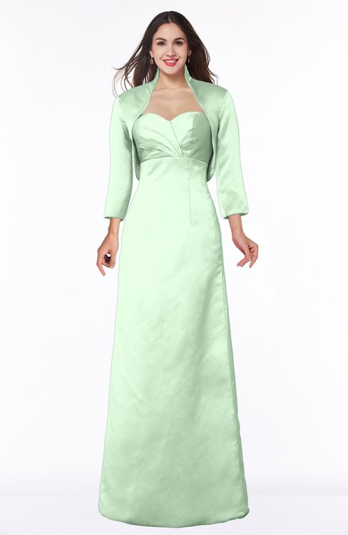 ColsBM Erica Light Green Traditional Criss-cross Straps Satin Floor Length Pick up Mother of the Bride Dresses