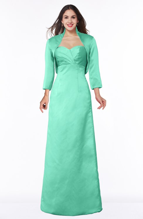 ColsBM Erica Mint Green Traditional Criss-cross Straps Satin Floor Length Pick up Mother of the Bride Dresses