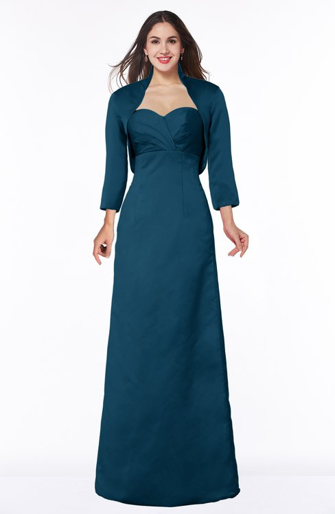 ColsBM Erica Moroccan Blue Traditional Criss-cross Straps Satin Floor Length Pick up Mother of the Bride Dresses