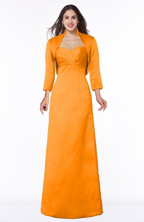 ColsBM Erica Orange Traditional Criss-cross Straps Satin Floor Length Pick up Mother of the Bride Dresses