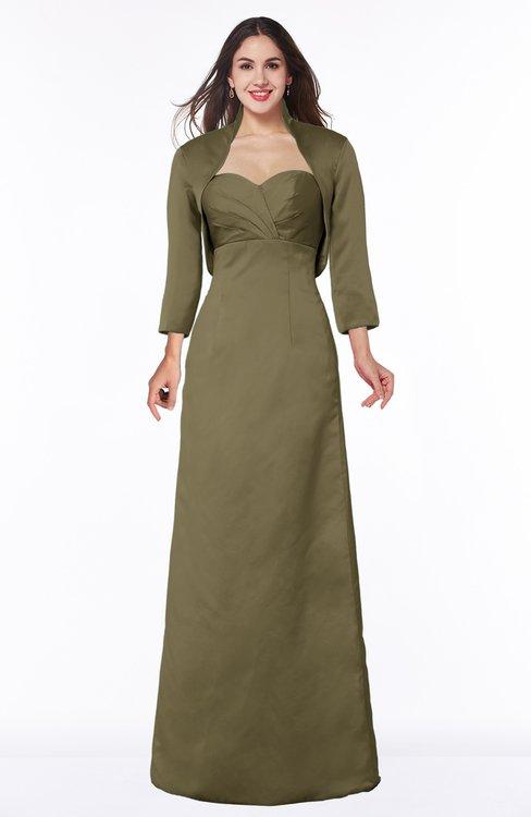 ColsBM Erica Otter Traditional Criss-cross Straps Satin Floor Length Pick up Mother of the Bride Dresses