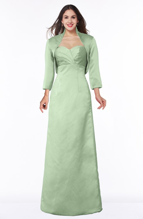 ColsBM Erica Pale Green Traditional Criss-cross Straps Satin Floor Length Pick up Mother of the Bride Dresses