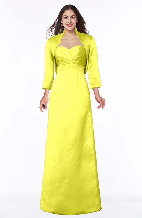 ColsBM Erica Pale Yellow Traditional Criss-cross Straps Satin Floor Length Pick up Mother of the Bride Dresses