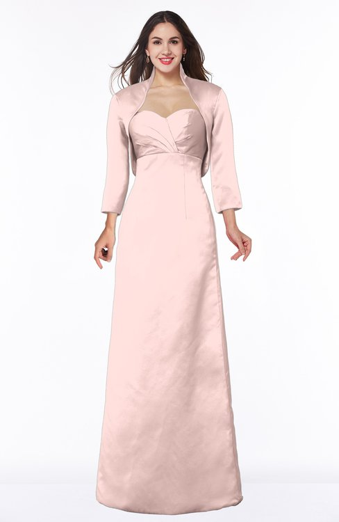 ColsBM Erica Pastel Pink Traditional Criss-cross Straps Satin Floor Length Pick up Mother of the Bride Dresses