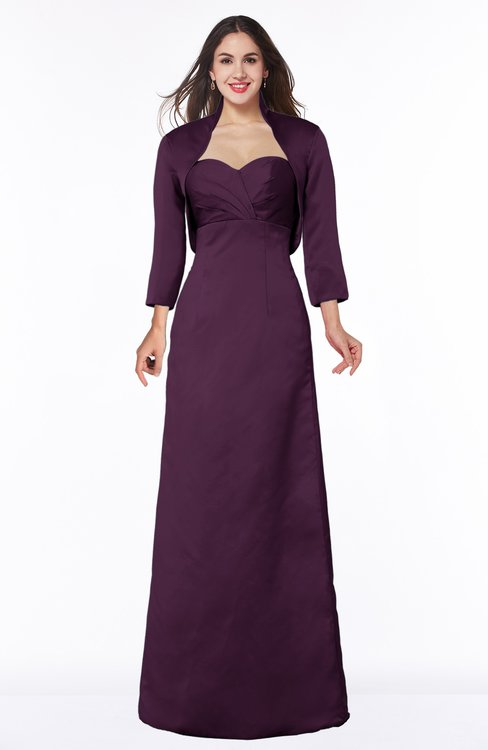ColsBM Erica Plum Traditional Criss-cross Straps Satin Floor Length Pick up Mother of the Bride Dresses
