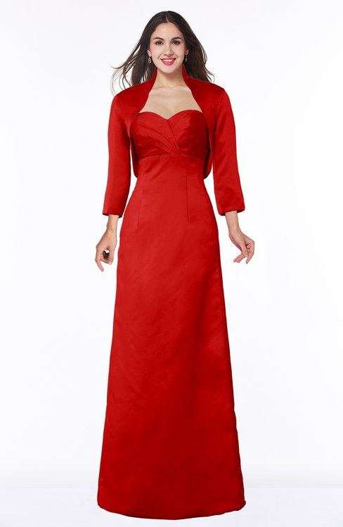 ColsBM Erica Red Traditional Criss-cross Straps Satin Floor Length Pick up Mother of the Bride Dresses