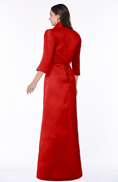 595019f004 ... ColsBM Erica Red Traditional Criss-cross Straps Satin Floor Length Pick  up Mother of the