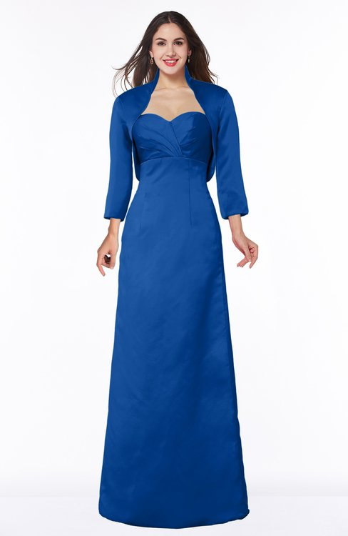 ColsBM Erica Royal Blue Traditional Criss-cross Straps Satin Floor Length Pick up Mother of the Bride Dresses
